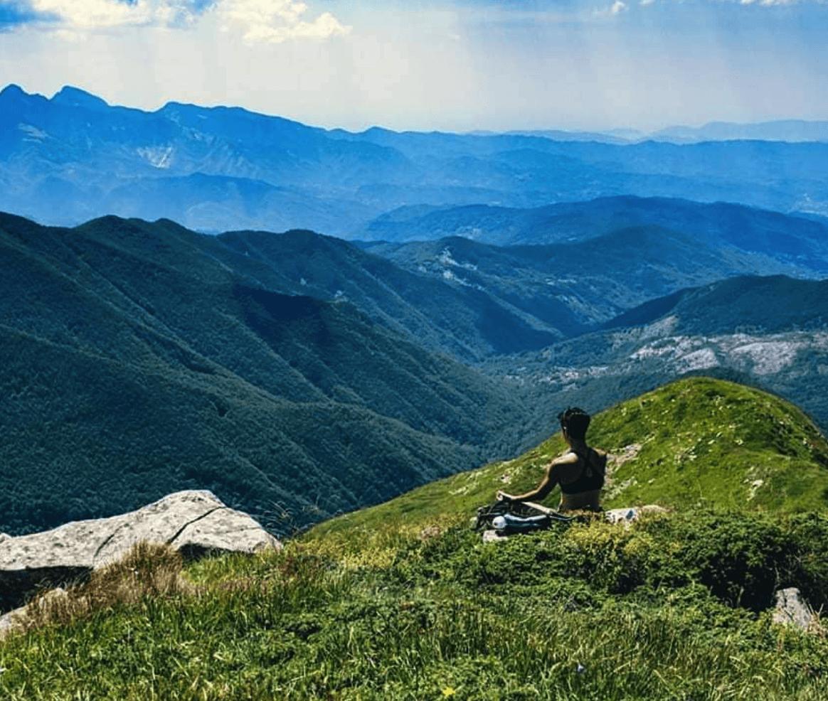 Samanta Carpeggiani montagna yoga
